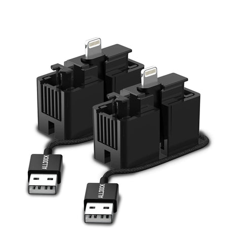 2x Click Adapter Lightning (MFI) Black (GmbH)