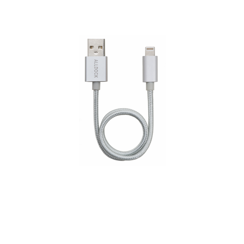 "Apple Mfi 13.8""  Cable Silver"