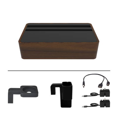 HybridX Wireless Compact Walnut & Black Apple Package
