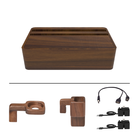 HybridX Compact Wireless Walnut Apple Package