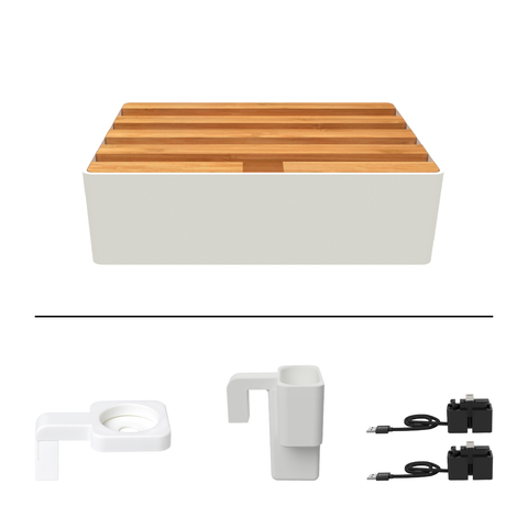 ALLDOCK Classic White & Bamboo Package