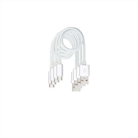 "4 Cable Value Pack - Android Micro 13.8""  Cable White"