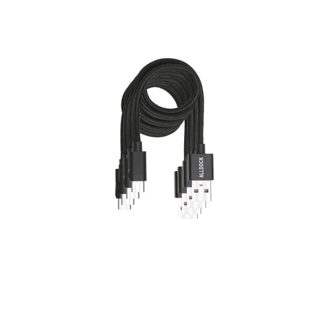 4 Cable Value Pack - C-Type Apple PD Black (For New iPad Pro)