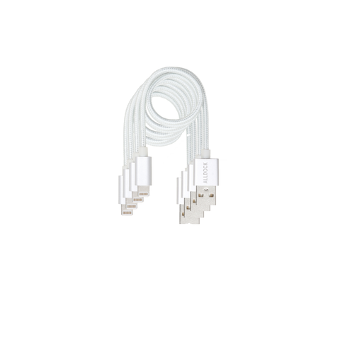 "4 Cable Value Pack - Apple Mfi 13.8""  Cable White"