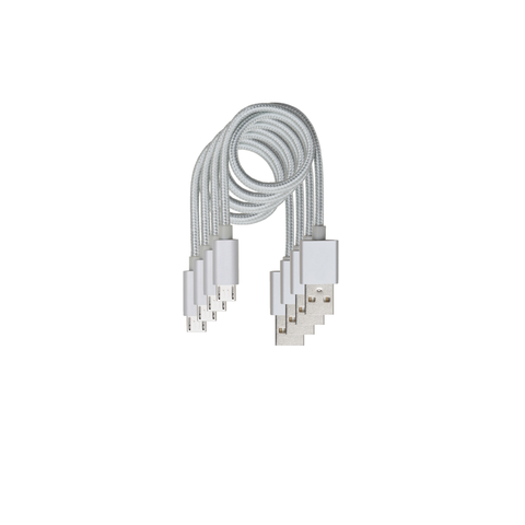 "4 Cable Value Pack - Android Micro 13.8""  Cable Silver"