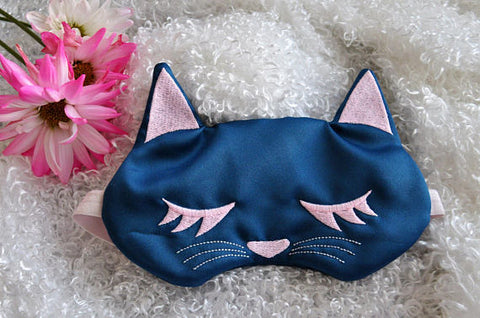 Cat Lover Gifts, Cat Nap Glow In The Dark Sleep Mask