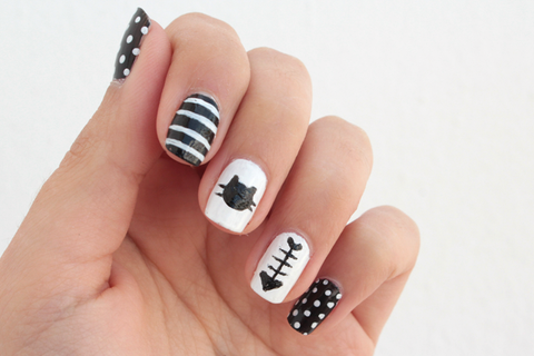 5 Easy to Make Cat Nail Designs - 5 Easy To Make Cat Nail Designs – Purrs And Whiskers