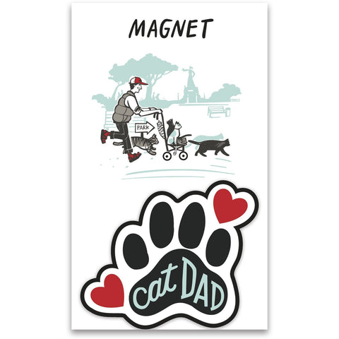 Cat Dad Magnet
