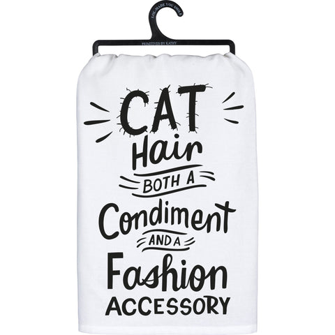 Cat Hair Both A Condiment And Fashion Accessory Kitchen Towel