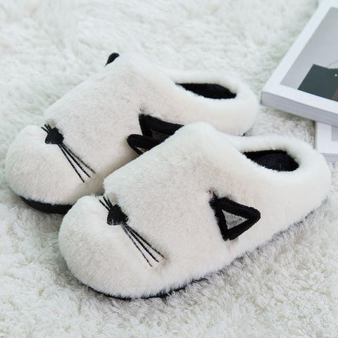 Christmas Gifts for Cat Lovers, Fluffy Cat Slippers