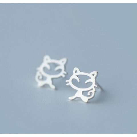 10 Cat Jewelry Pieces You Will Love, Cat with Whiskers Studs