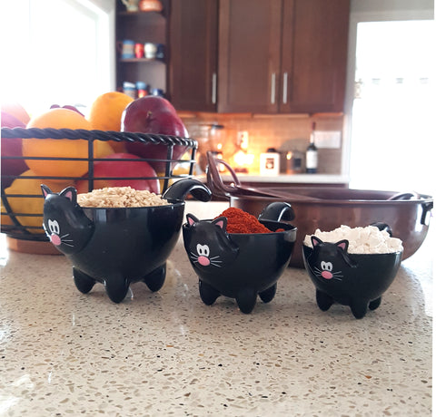Cat Themed Kitchen Decor, Cat Measuring Cups