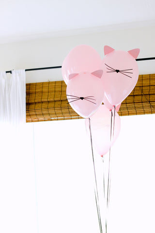 Cat Party Balloons from Delia Creates