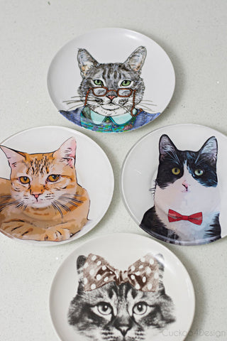 Cat Plates by Cuckoo 4 Design