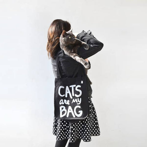 Cats Are My Bag Organic Tote