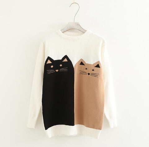 10 Best Gifts for Cat Lovers, Friends Forever Cat Sweater