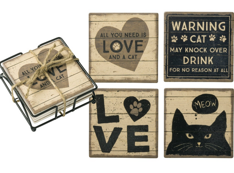 Love Cats Coasters