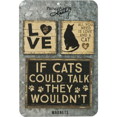 Love Cats Magnets (Set of 3)