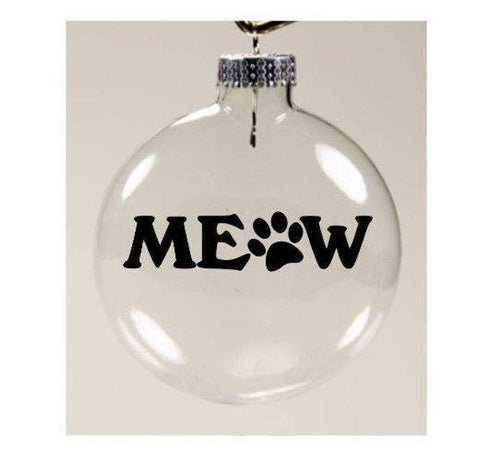 Gifts for People With Cats, Meow Christmas Ornament
