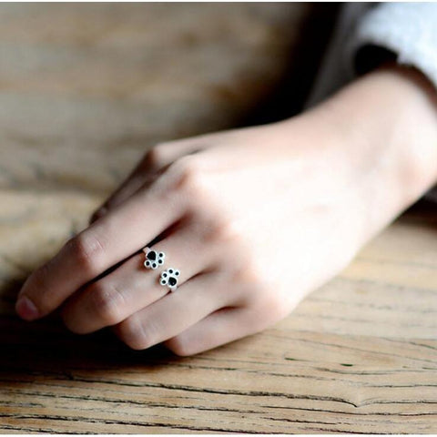 Paw Prints Adjustable Ring