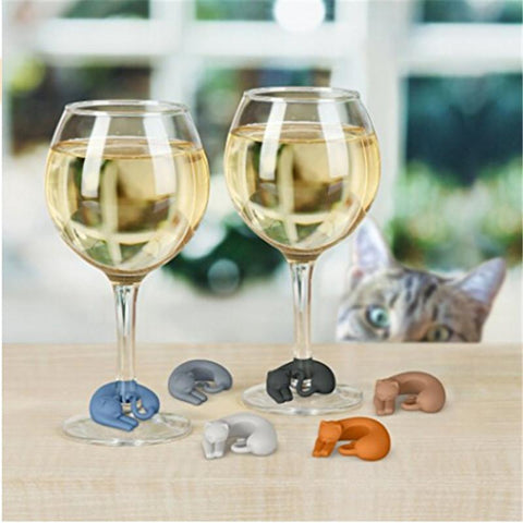 Cat Wine Glass Charms by Purrs and Whiskers