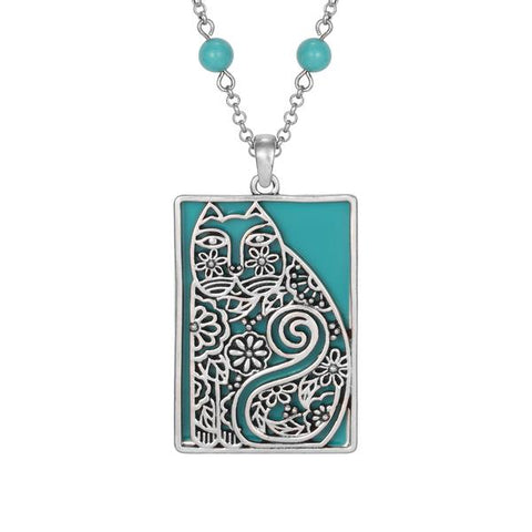 Turquoise Cat Necklace