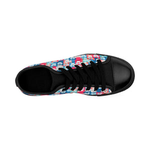 If you are looking for cute and comfy shoes with cats on them, pick these All Cats Love Me canvas sneakers.