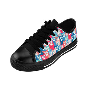 For cute and comfy shoes with cats on them, pick up these unique All Cats Love Me cat sneakers featuring a beautiful colorful cat print.