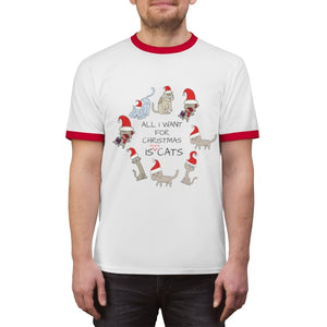 Christmas Presents for Cat People, Funny Cat Christmas Shirt for Men Who Love Cats
