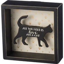 Load image into Gallery viewer, Cat Related Gifts, All You Need Is Love and a Cat Wall Art