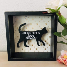 Load image into Gallery viewer, Cat Wall Decor, All You Need Is Love and a Cat Wall Sign
