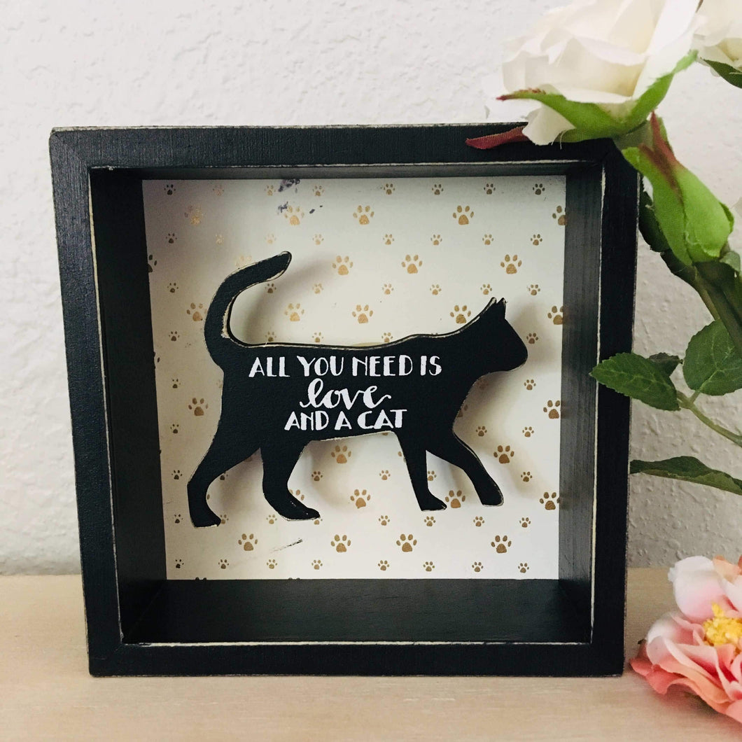 Cat Wall Decor, All You Need Is Love and a Cat Wall Sign