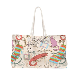 Pick up this cat handbag for a unique cat themed accessory that will stand out and fit all your essentials!