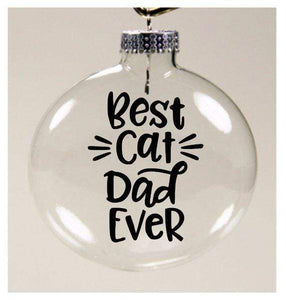 Christmas Gifts for Cat Lovers, Cat Themed Gift for Him, Best Cat Dad Ever Cat Christmas Ornament