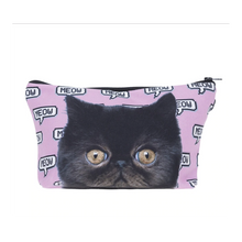 Load image into Gallery viewer, Cute Makeup Bags, Black Cat Makeup Bag for Cat Lovers