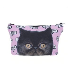 Cute Makeup Bags, Black Cat Makeup Bag for Cat Lovers