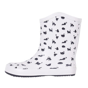Cat Themed Shoes, Rain Boots with Cats On Them for Cat Lovers