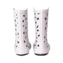 Load image into Gallery viewer, Cute Cat Shoes, Cat Rain Boots Featuring Black Cats Printed On a White Background