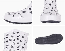 Load image into Gallery viewer, Cute Things for Cat Lovers, Cat Rain Boots Featuring Black Cats On a White Background