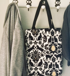 Cute Cat Bag, Black Cat Tote