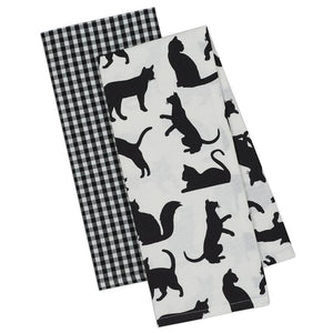 Black Cat Kitchen Towels Sold In A Set of 2