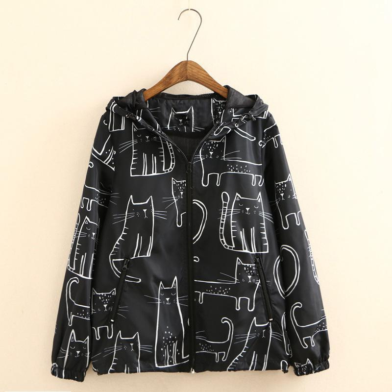 Clothes with Cats on Them for Cat Lovers, Women's at Pint Black Jacket