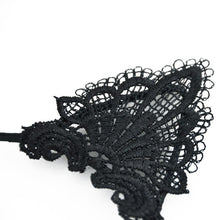 Load image into Gallery viewer, This cat ears headband is decorated with pointy cat ears made from delicate black lace.