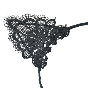 You will love the classy look of this kitten headband and the intricate black lace fabric.