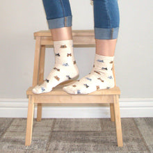 Load image into Gallery viewer, Cat Socks for Cat Lovers with Calico Cat Face Print
