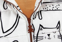 Load image into Gallery viewer, Clothes with Cats on Them, Cartoon Cat Hooded Vest