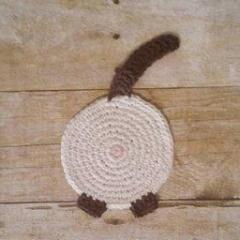 Siamese Cat Butt Coasters Set, Funny Unique Cat Themed Gift for Cat People