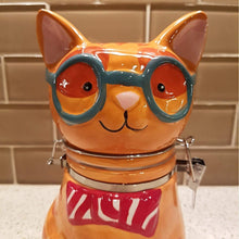 Load image into Gallery viewer, Funny Cat Gifts for Cat Lovers, Cat Shaped Cookie Jar