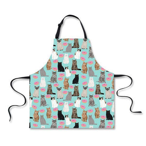 Quirky Gifts for Cat Lovers, Aprons with Cats On Them, Cat Cooking Apron Decorated with Cats and Donuts