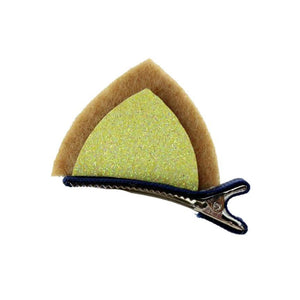 Pick up these golden tabby cat ear hair clips for a fun cat themed accessory that shows everyone your favorite pet.